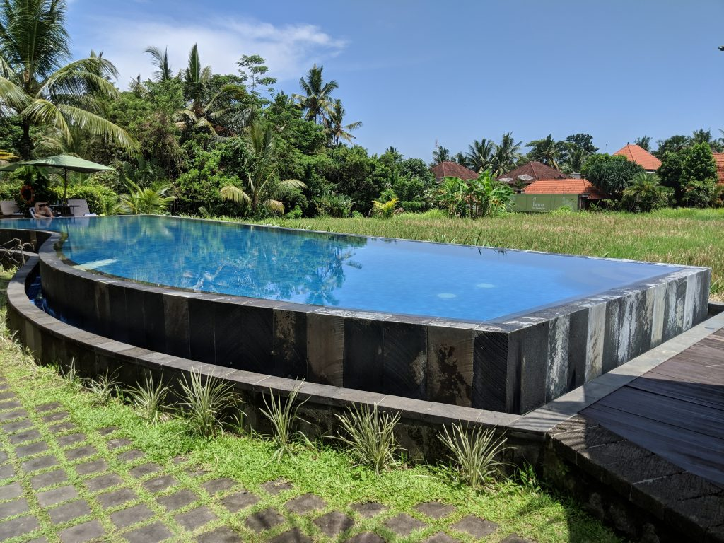 ubud bali pool in rice patties hotel