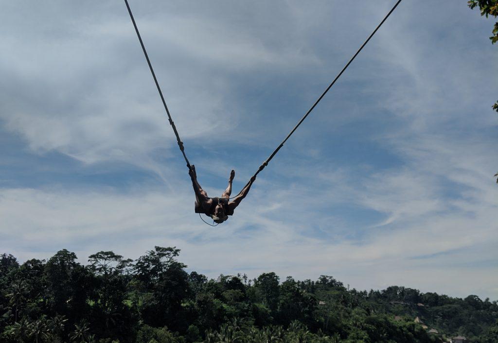 bali swing near ubud spiderman