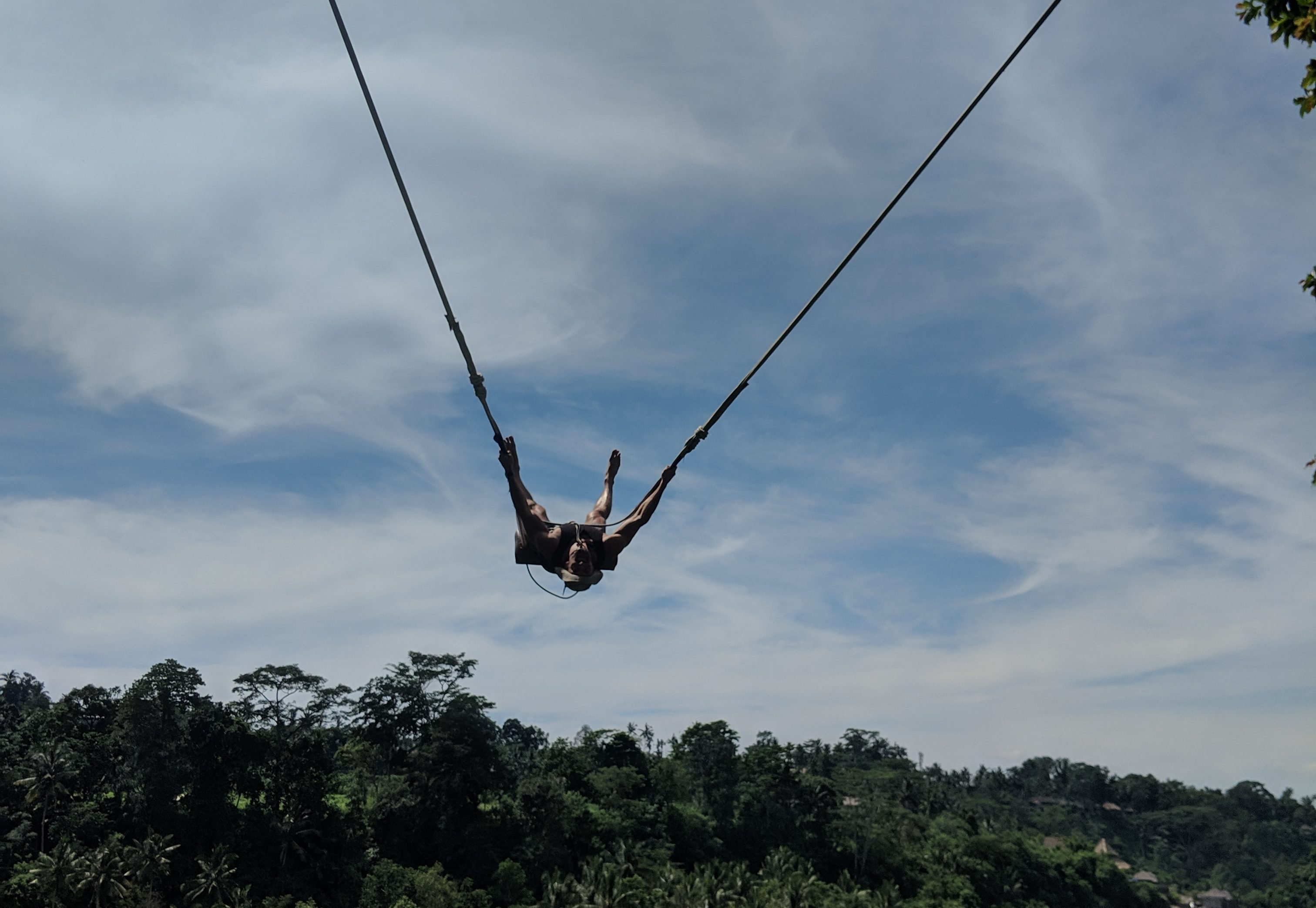 bali swing near ubud spiderman