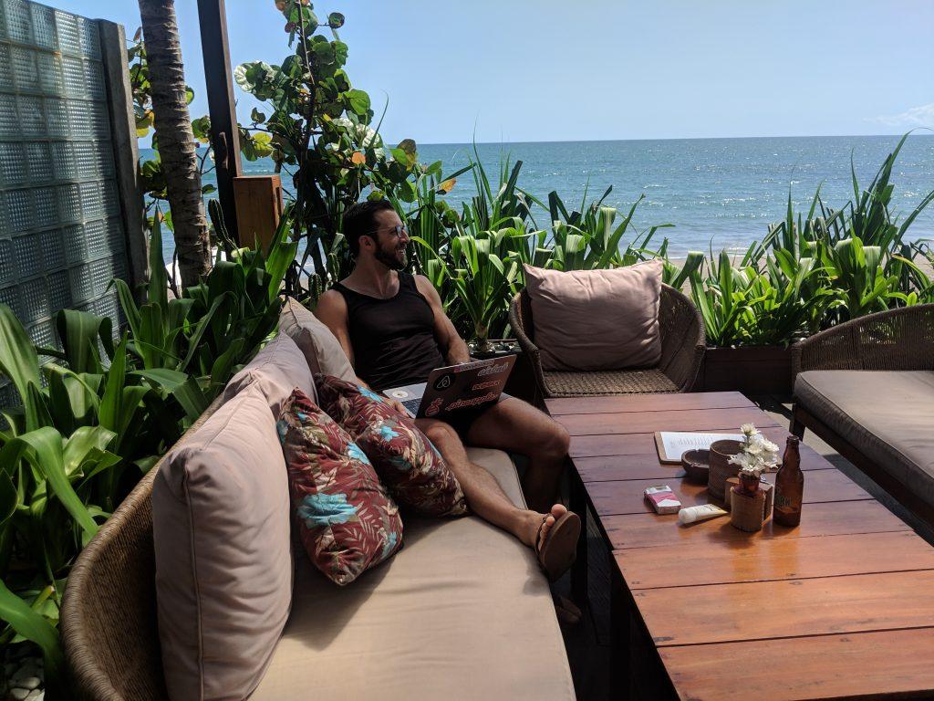 canguu digital nomad instagrammable beach cafe bar