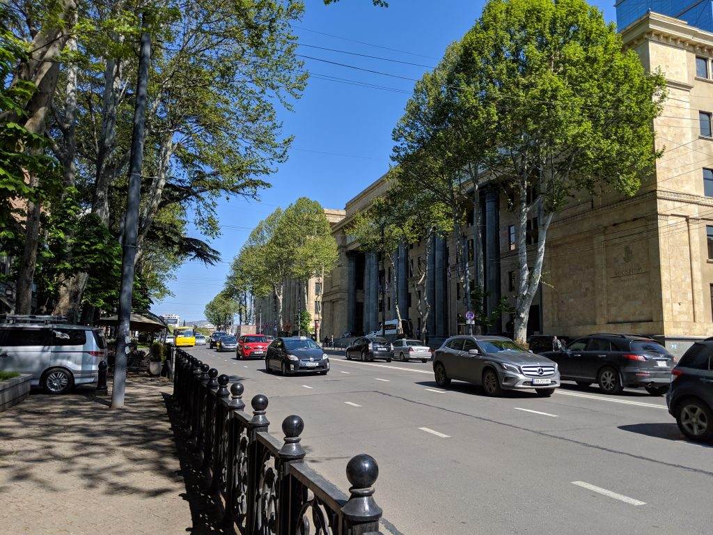 tbilisi georgia main rustaveli street