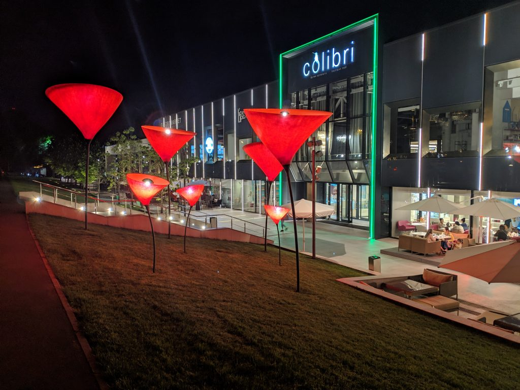 almaty colibri shopping center night time