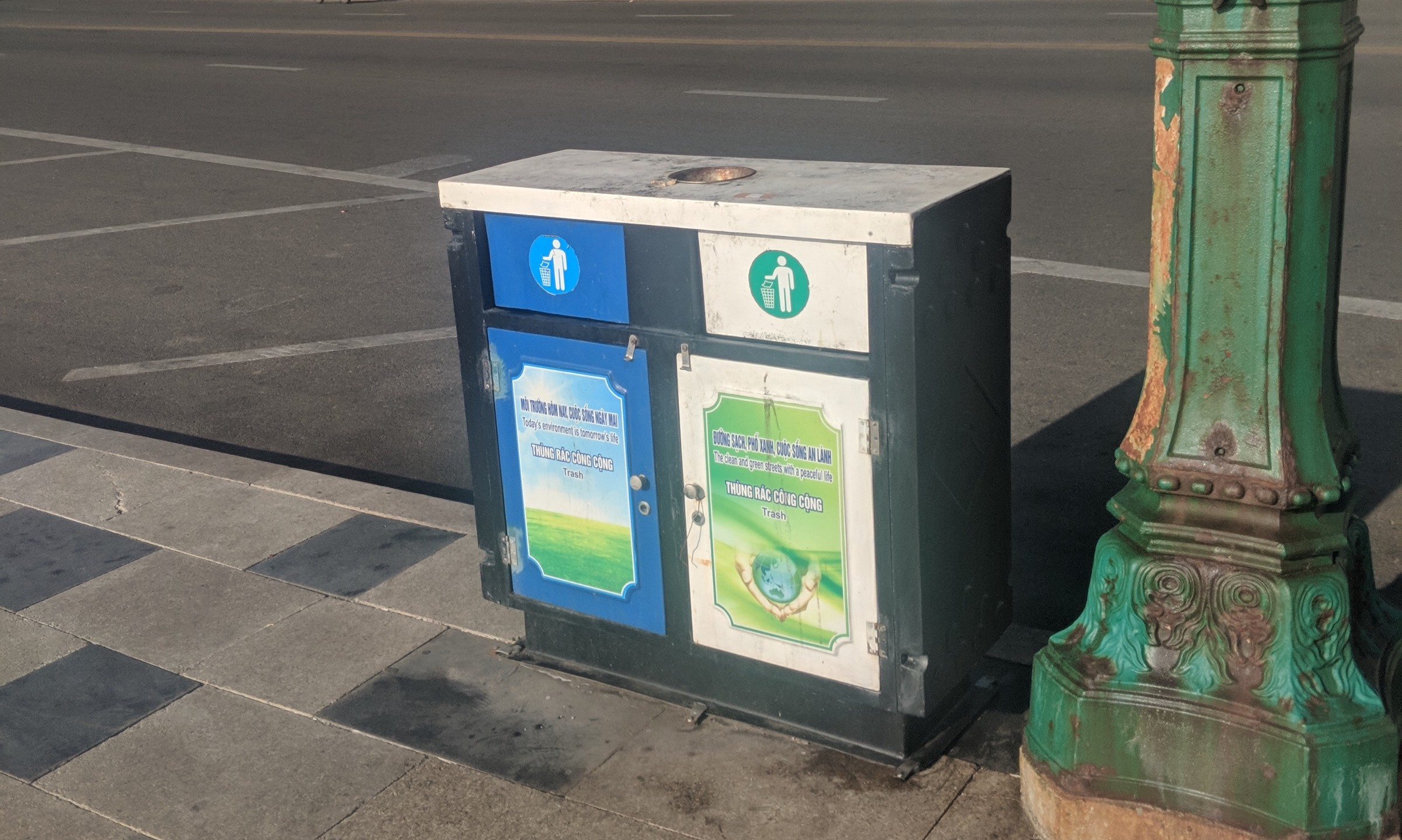 trash cans in south east asia
