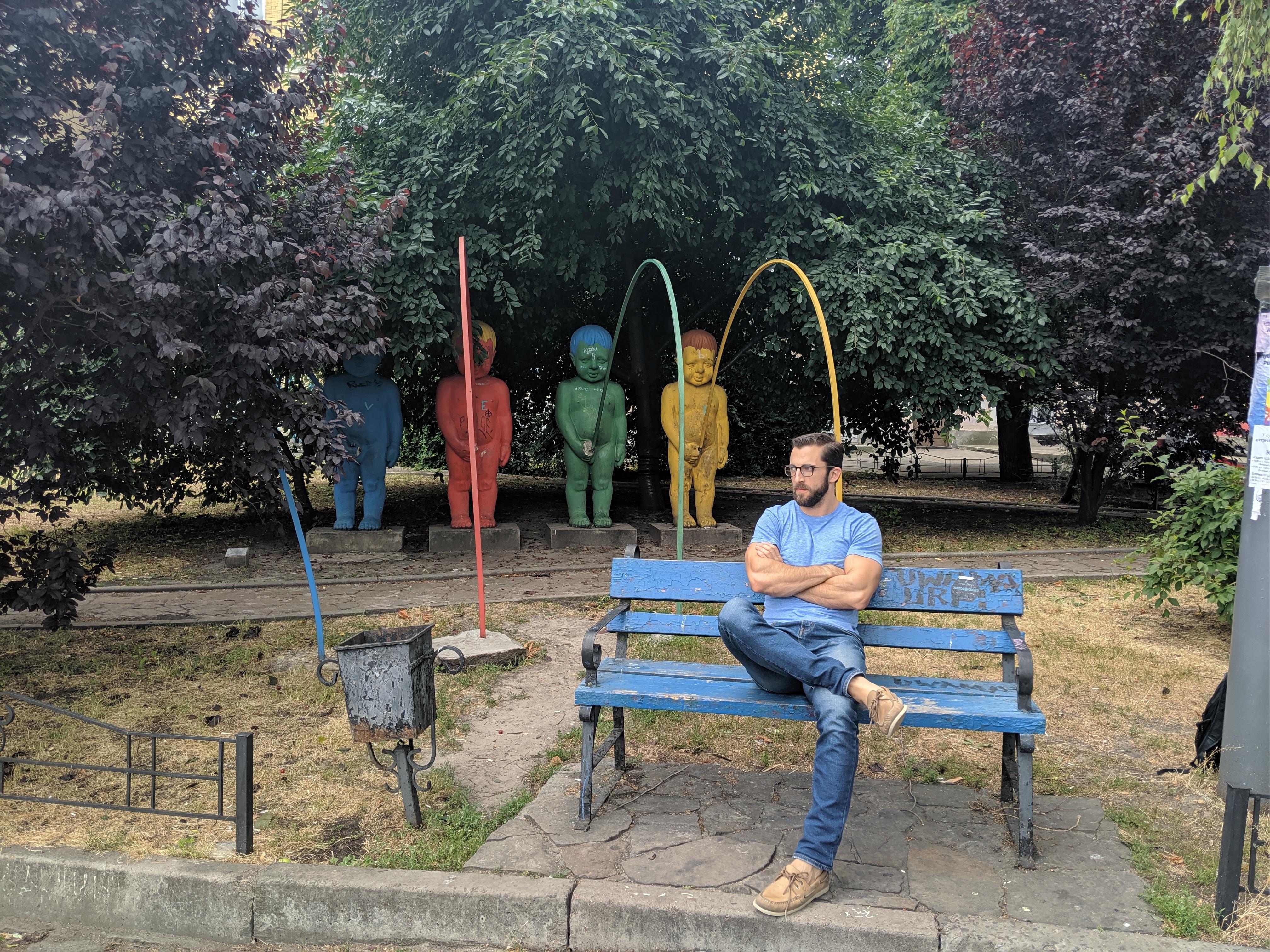 kiev ukraine peeing children