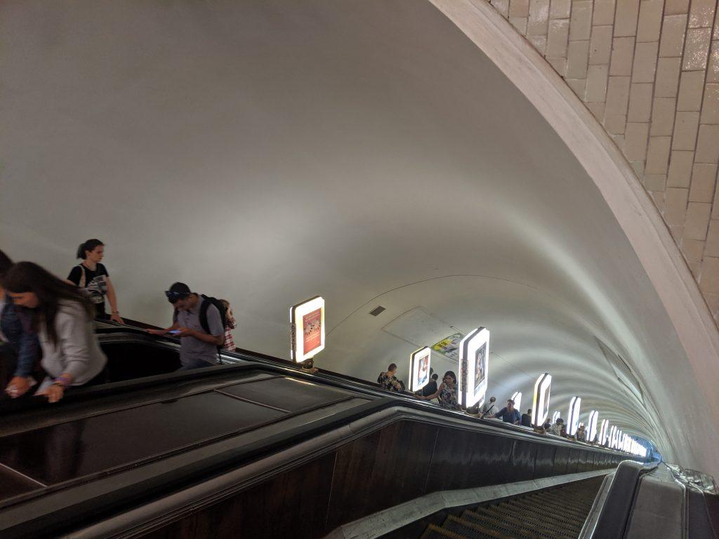 arsenalna metro station kiev ukraine deepest in the world