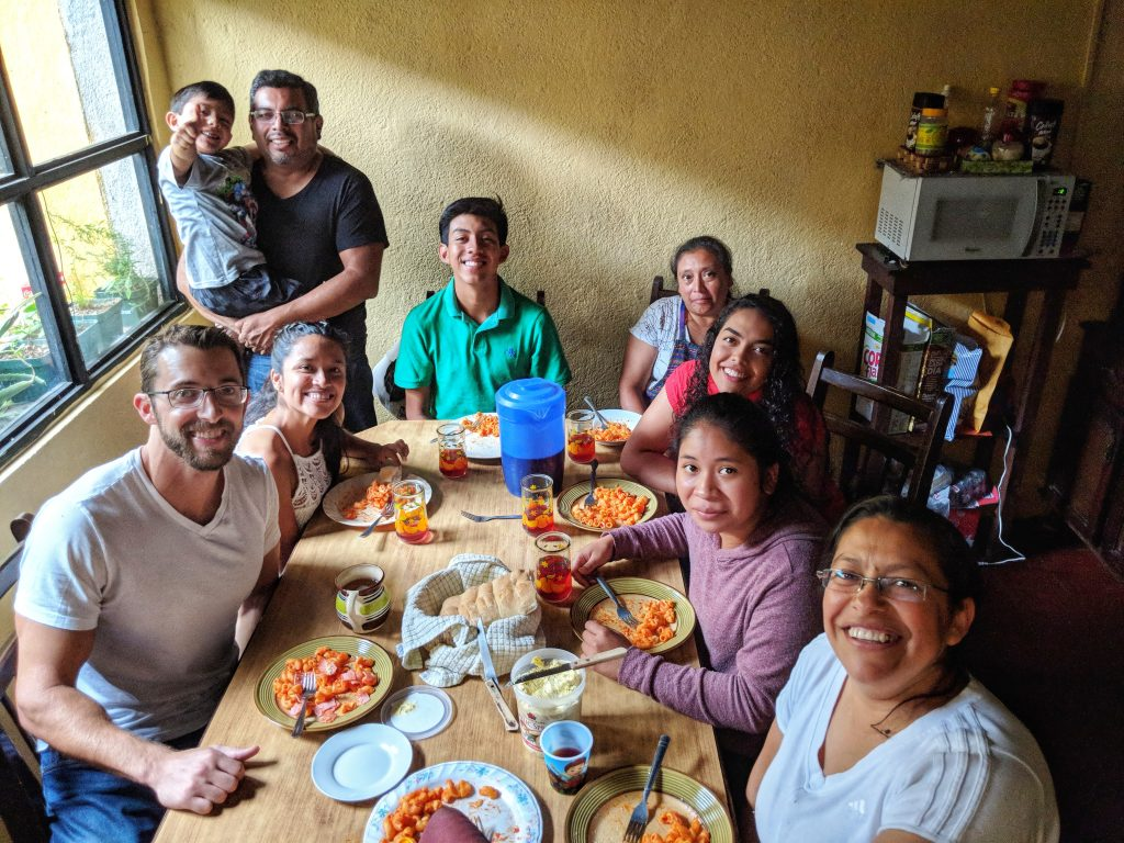 spanish family in antigua guatemala