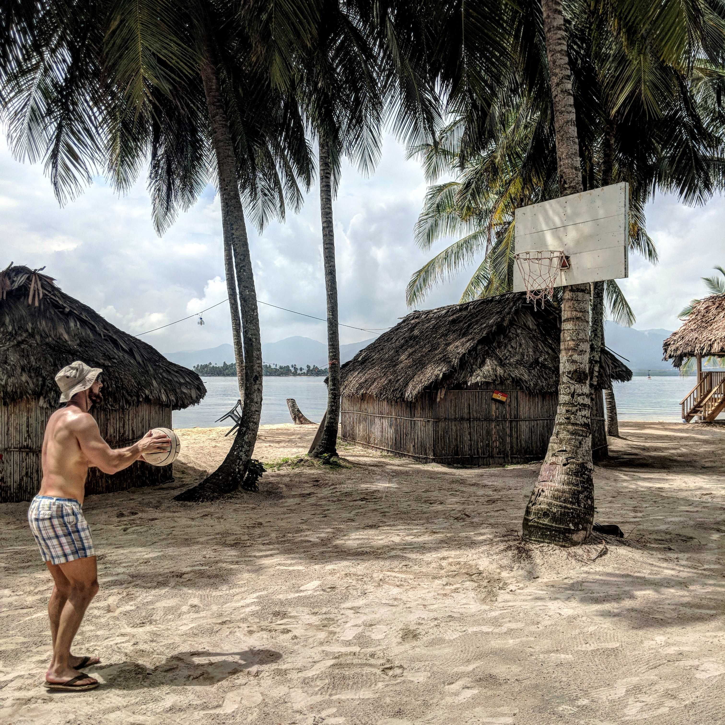 san blas islands panama basketball court
