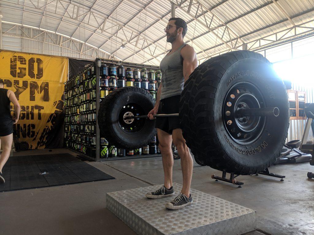 go gym chiang mai tire deadlift