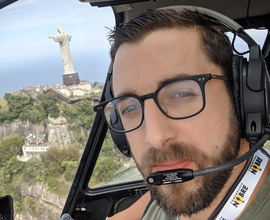 rio de janiero christ the redeemer helicopter