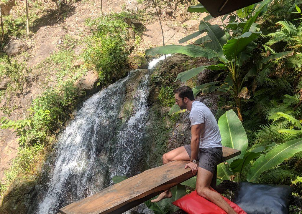 relaxing by waterfall daytrip chiang mai