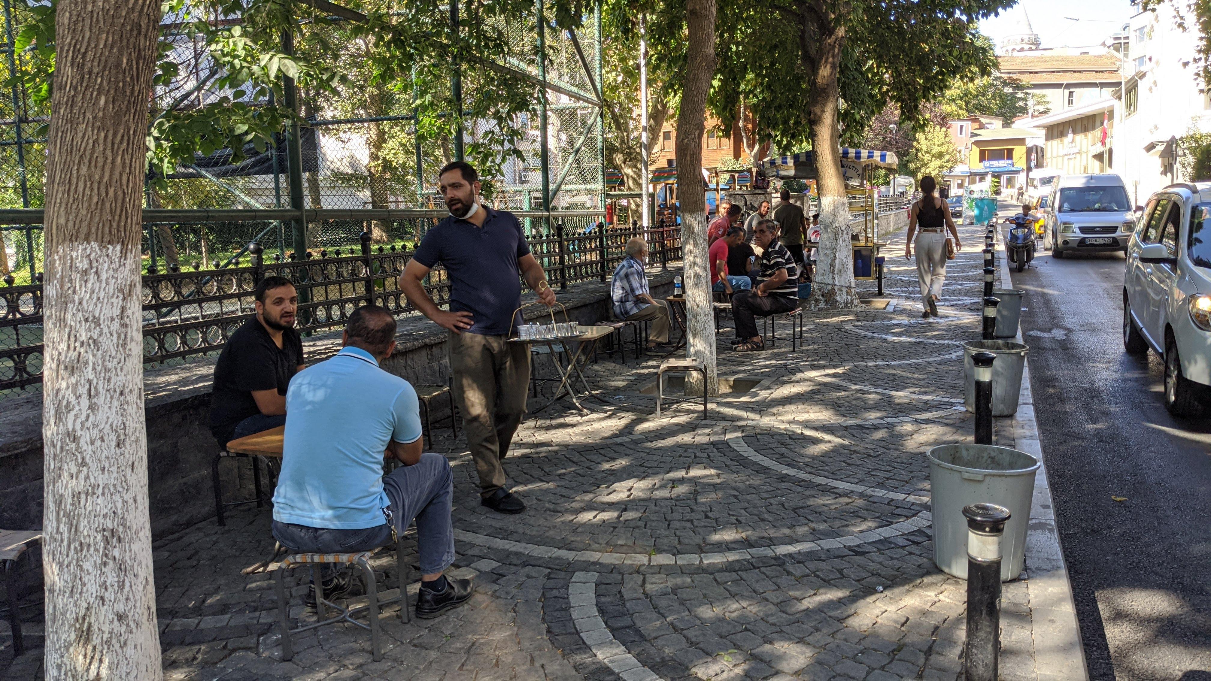 turkish streetside cafe istanbul