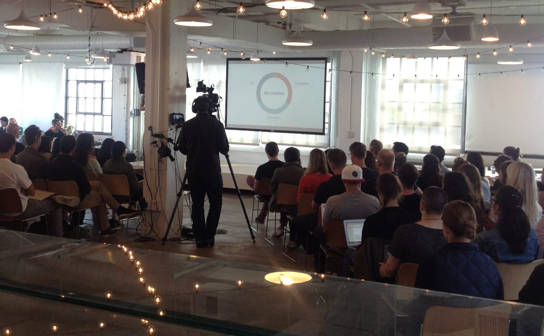 Airbnb HQ company-wide meeting