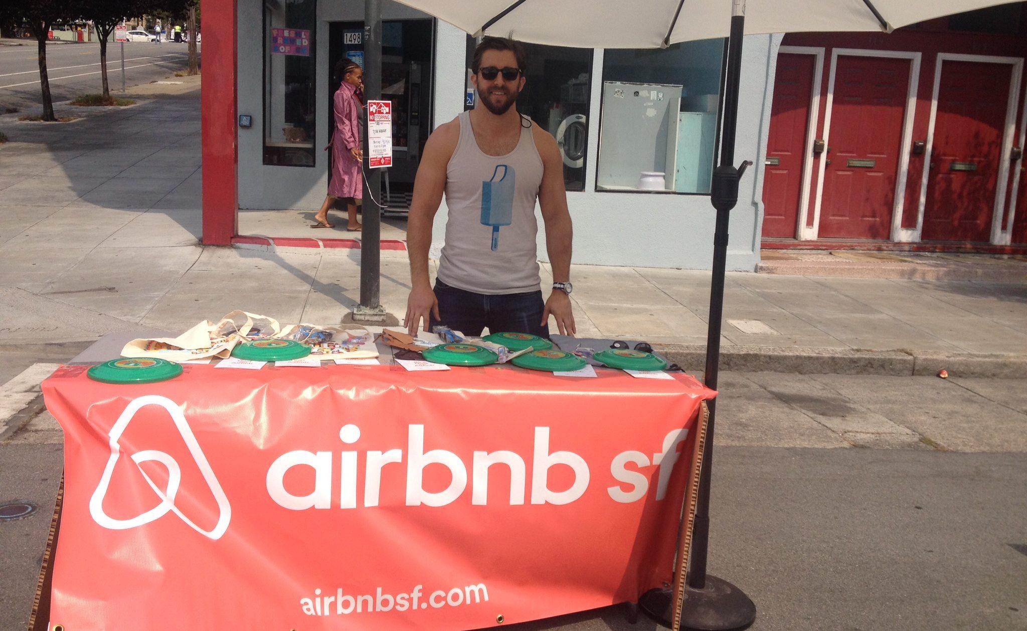 Airbnb Host Ambassador in San Francisco street fair