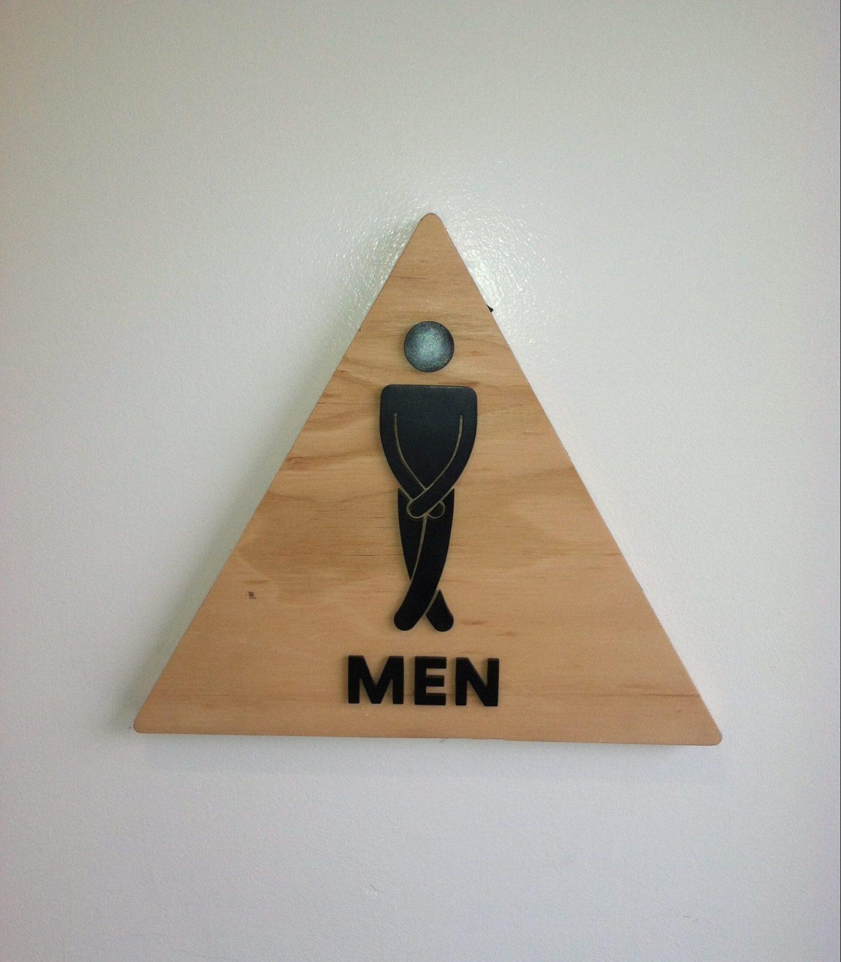 airbnb headquarters bathroom sign