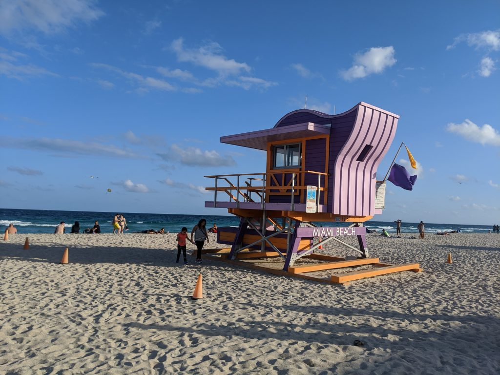 south beach miami lifeguard lookout
