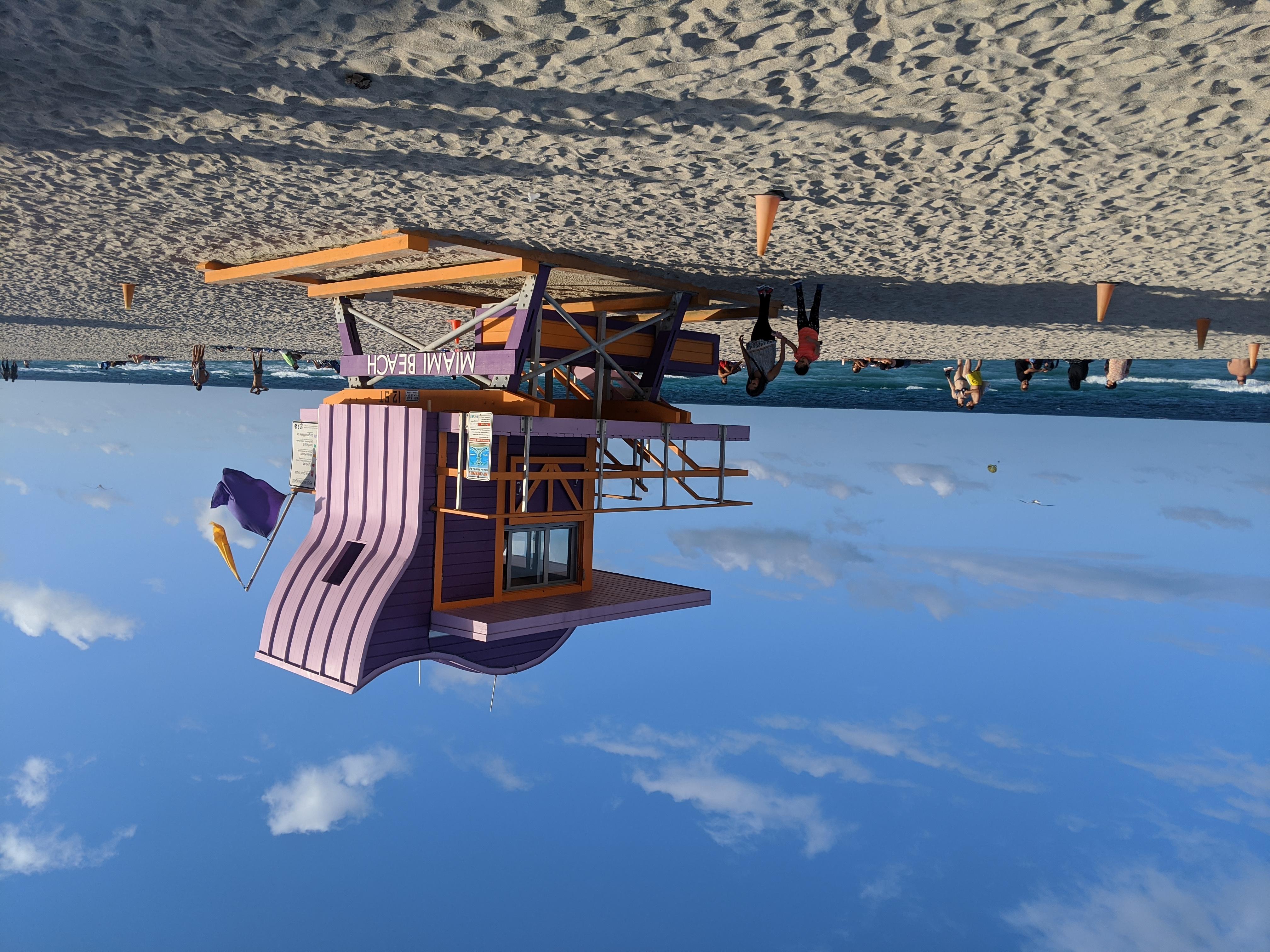 south beach miami lifeguard lookout
