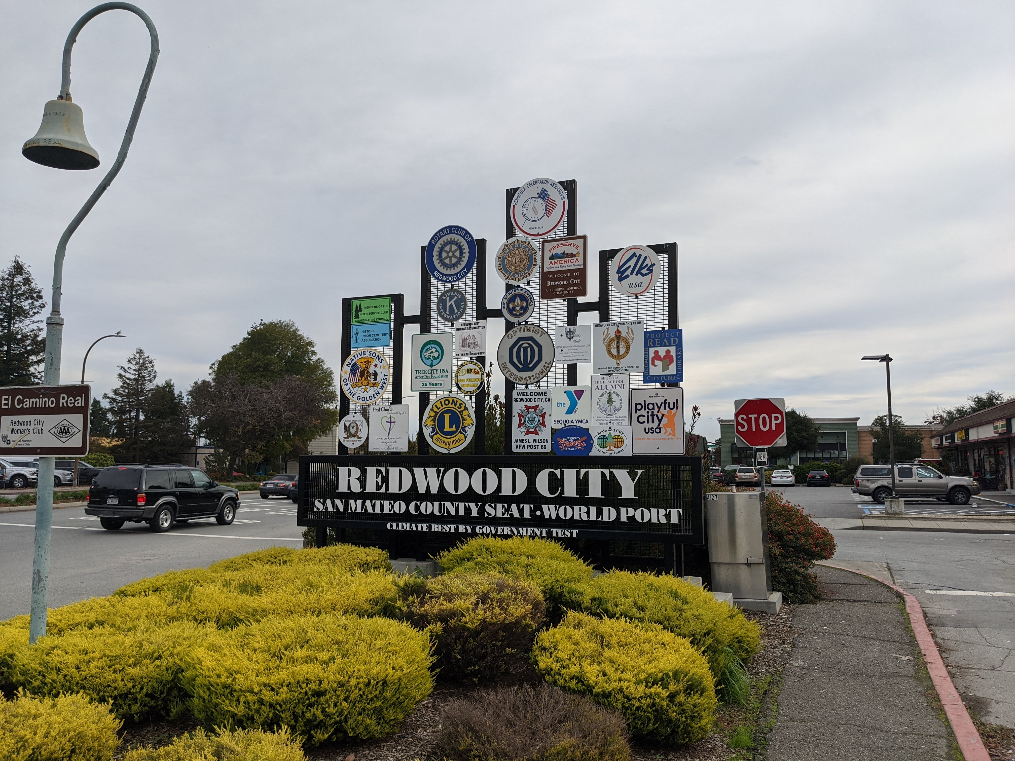 redwood city sign best weather by government test