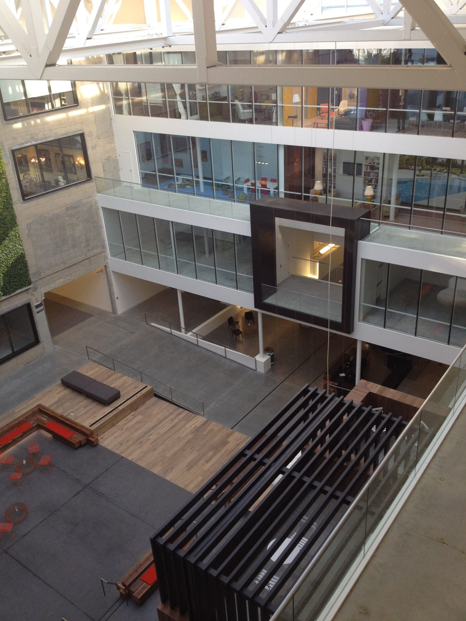 Main entrance to the Airbnb Office in the San Francisco Headquarters. The kitchen would later move from the 5th floor to the rooms in the bottom left of this photo on the ground floor.