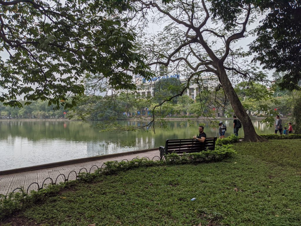 hanoi hoan kiem lake digital nomad