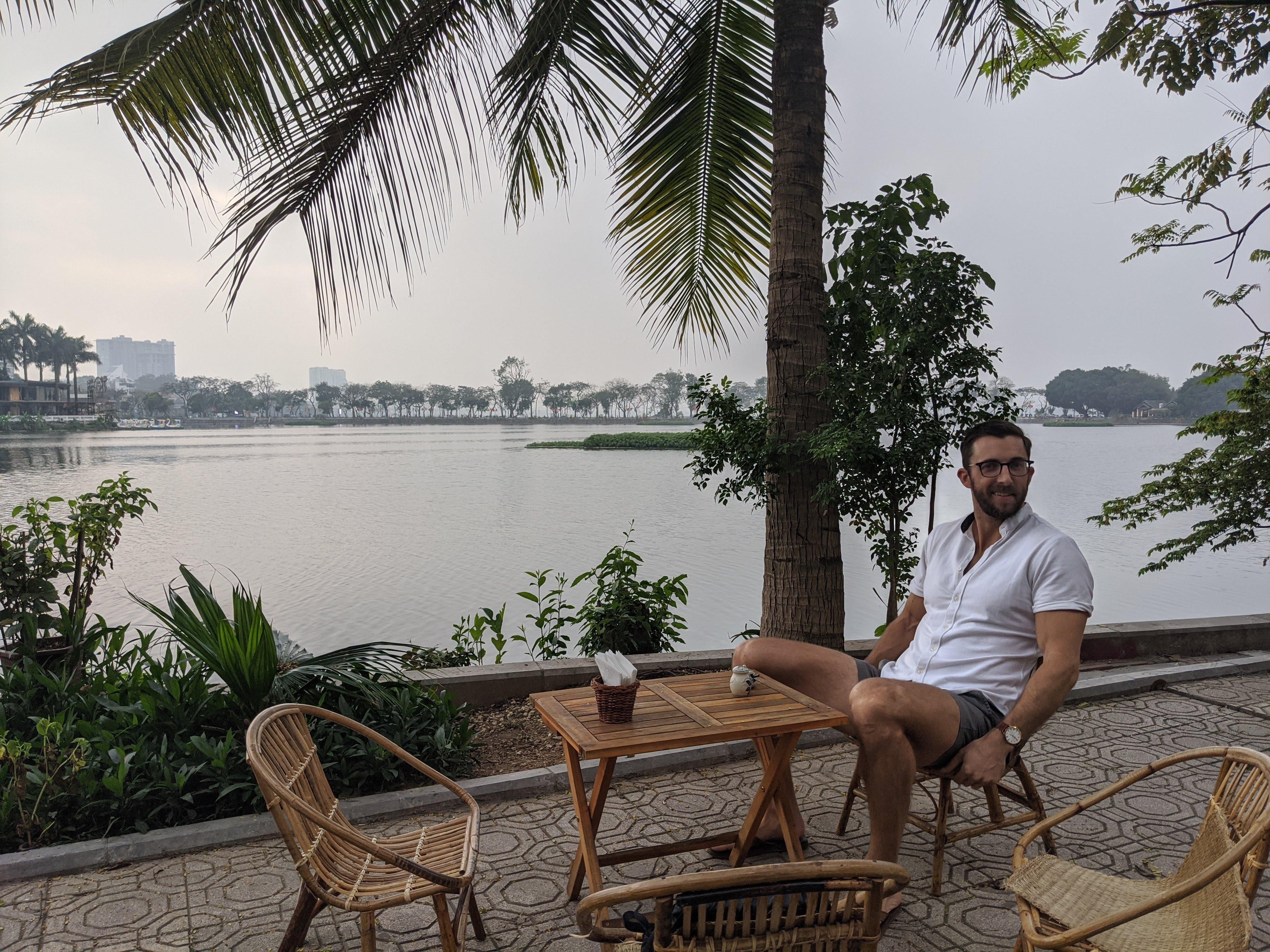 ho tay lake view hanoi vietnam digital nomad