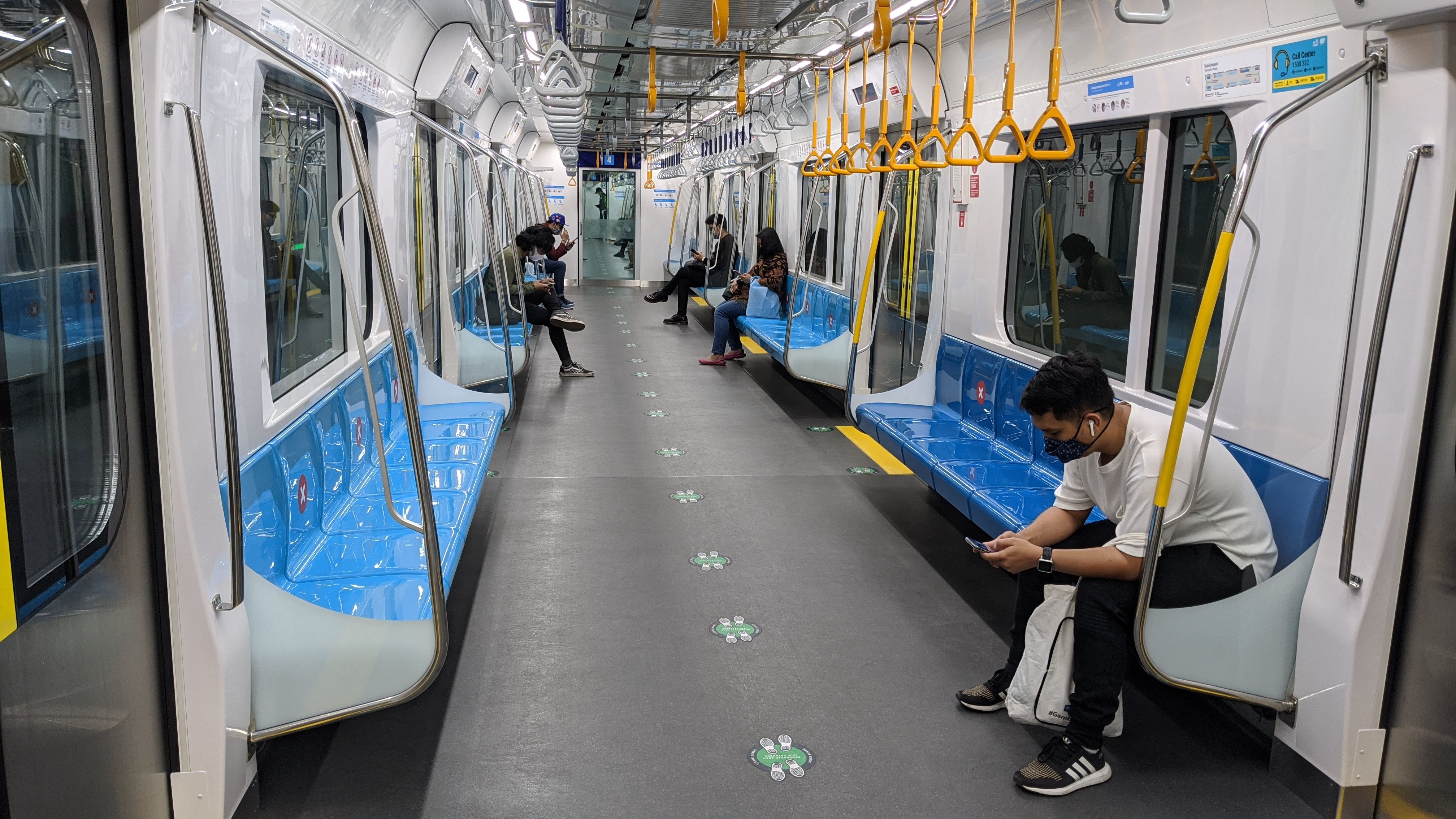 you are not allowed to talk on jakarta metro