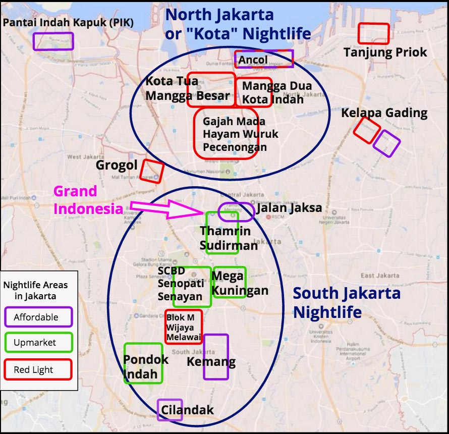 map of jakarta travel notes