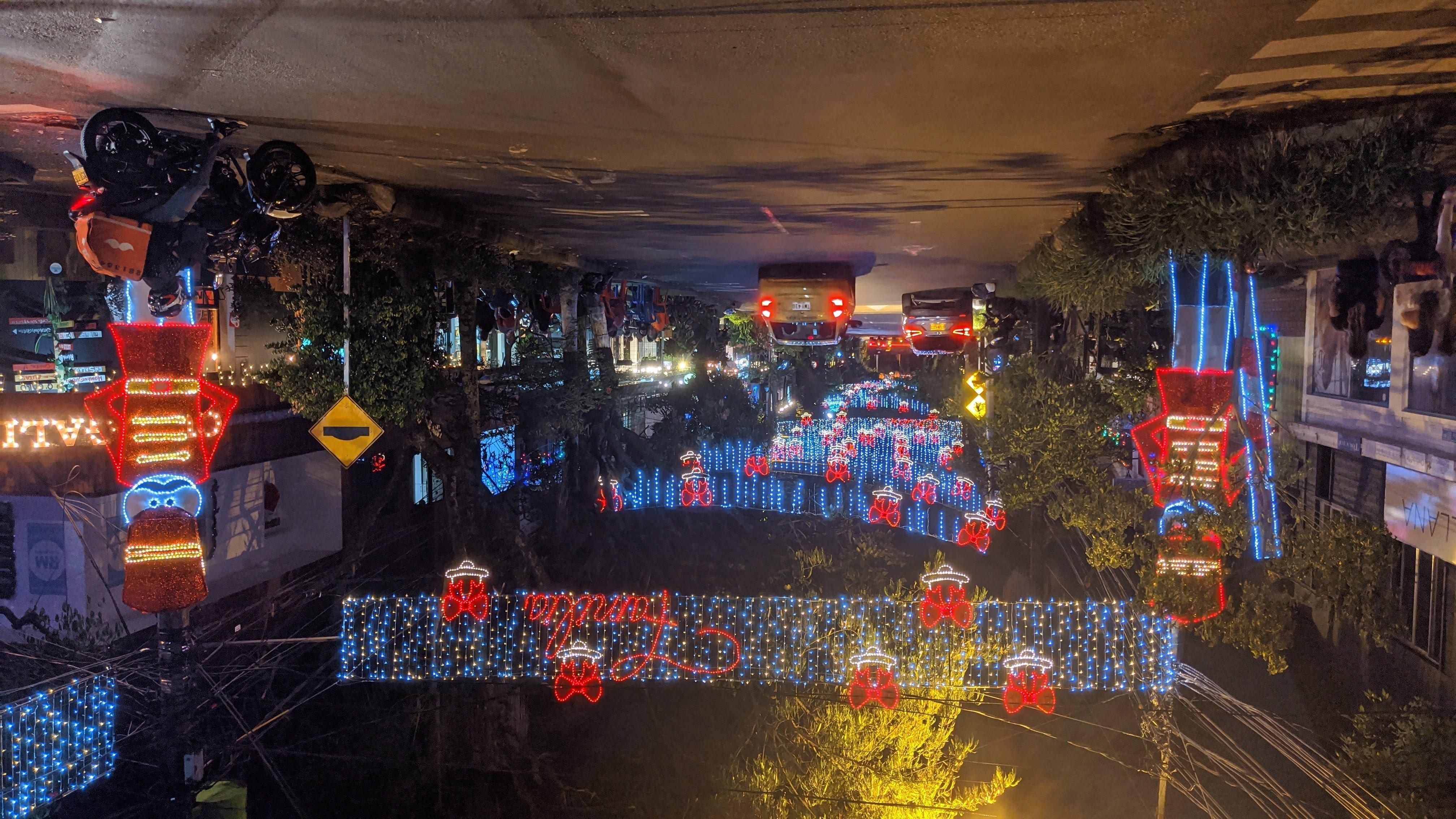 envigado colombia la calle de la buena mesa christmas lights