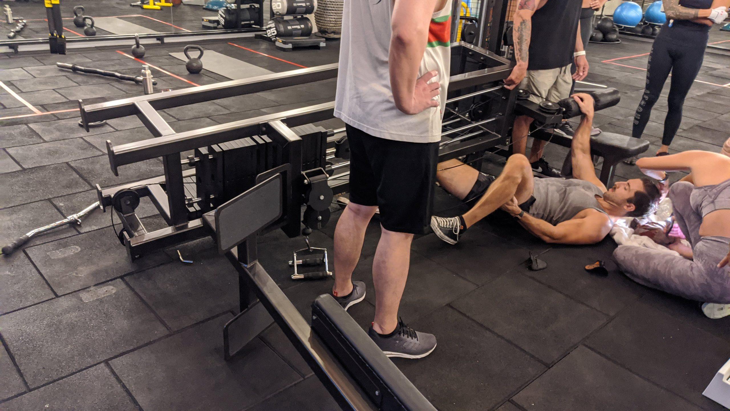 gym accident body factory canggu bali