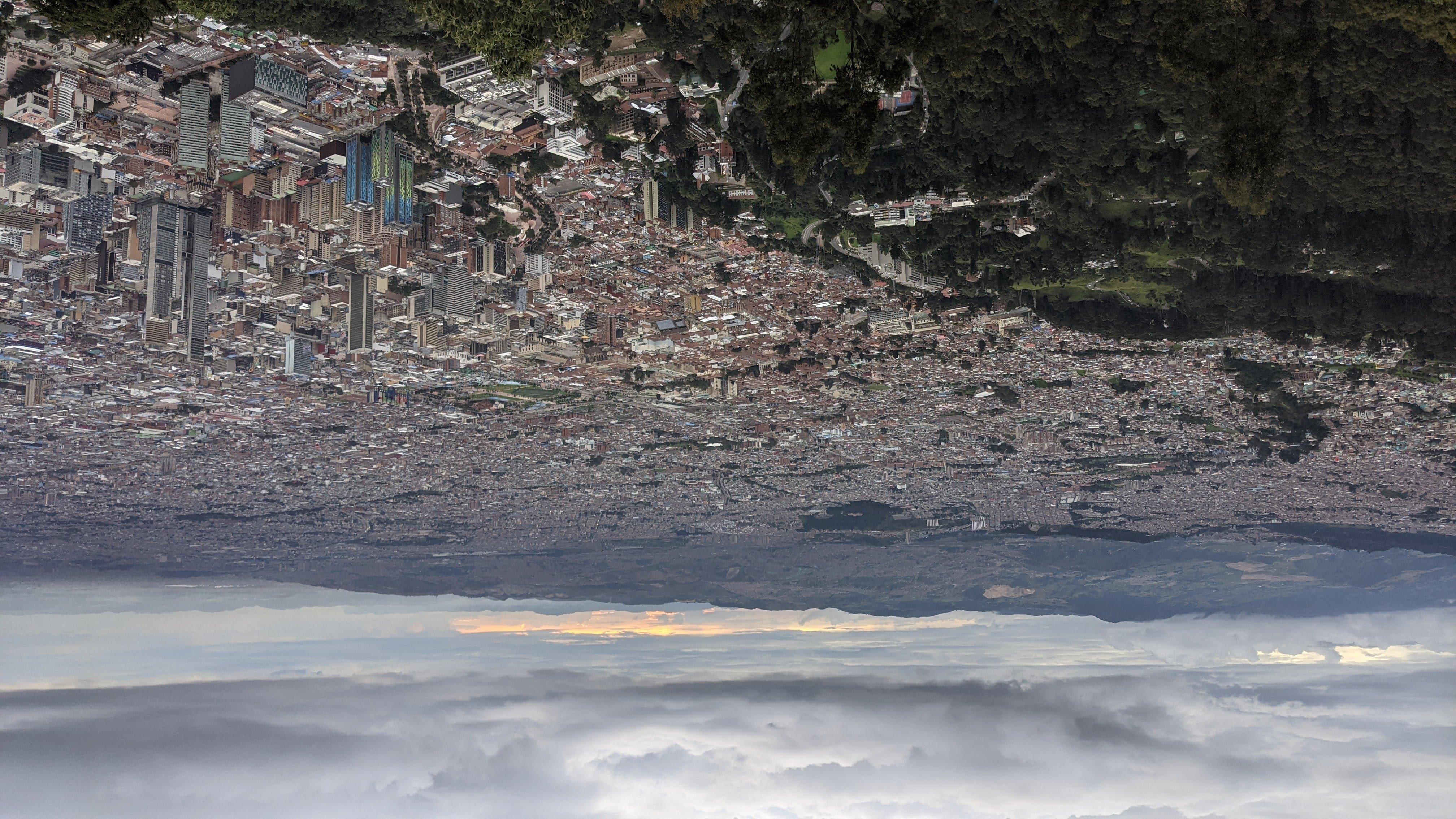 bogota city from montserrat view