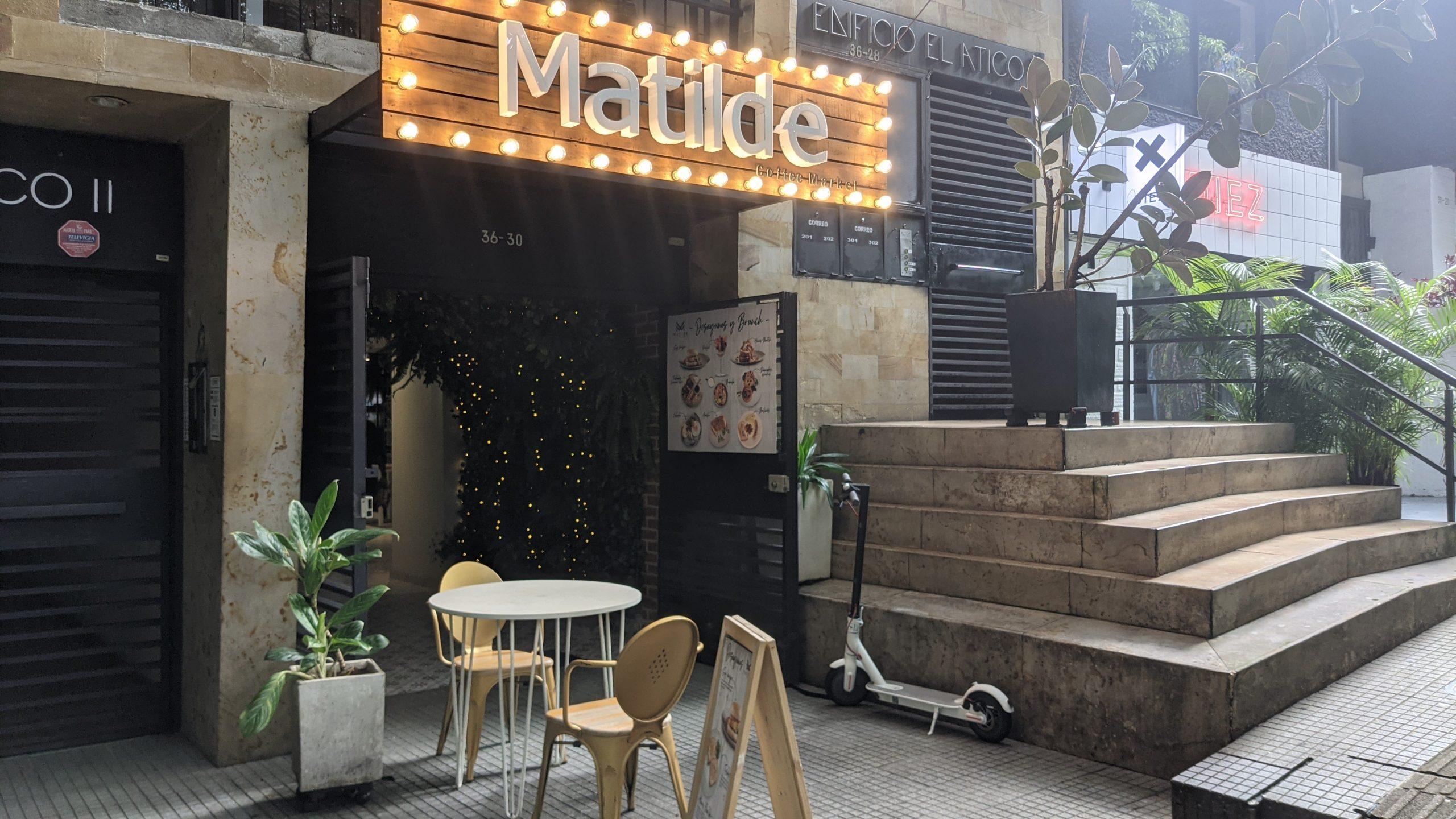 matilde cafe entrance provenza medellin colombia digital nomads