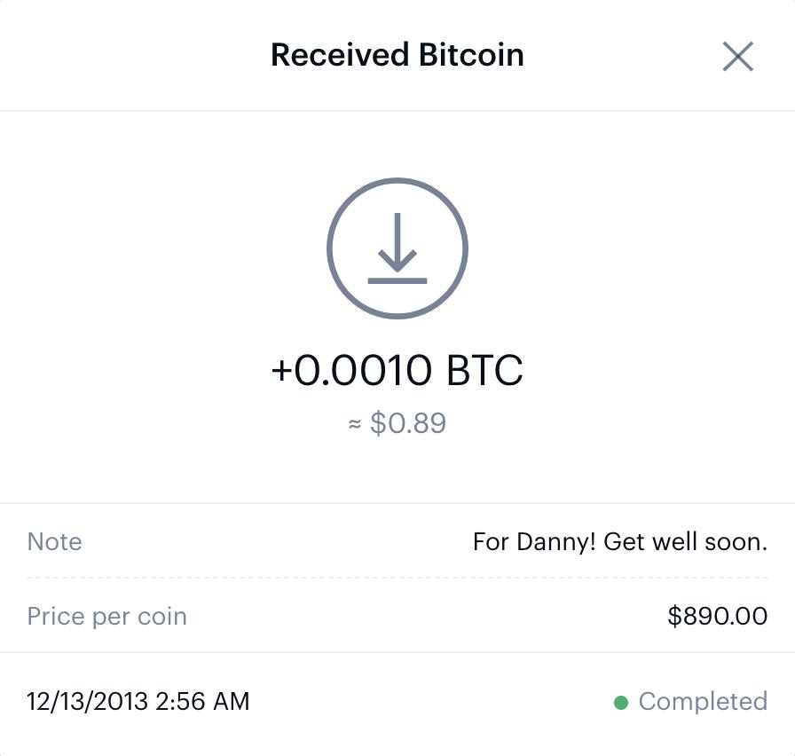 coinbase pro first bitcoin transaction 2013